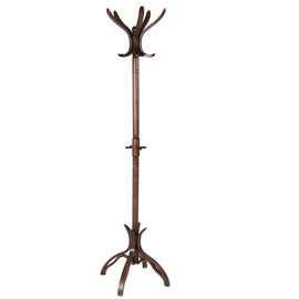 Вешалка напольная В 12Н Темно-коричневый Mebelic