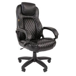 Компьютерное кресло для руководителя Chairman 432 Черная ЭКО Кожа