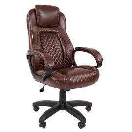 Компьютерное кресло для руководителя Chairman 432 Коричневая ЭКО Кожа