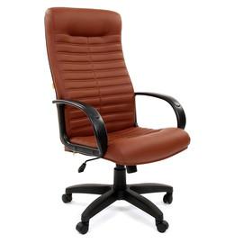 Компьютерное кресло для руководителя Chairman 480 LT Terra 111 коричневый ЭКО кожа