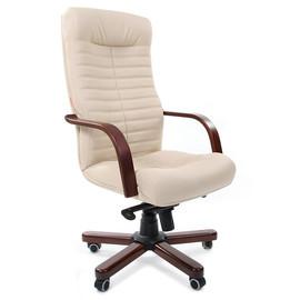 Компьютерное кресло для руководителя Chairman 480 WD Бежевая Эко кожа
