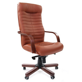 Компьютерное кресло для руководителя Chairman 480 WD Коричневая Эко кожа