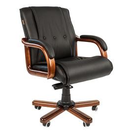 Компьютерное кресло для руководителя Chairman 653 M низкая спинка для конференц-залов и переговоров