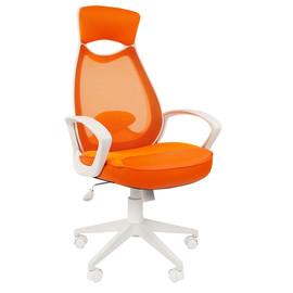 Компьютерное кресло для руководителя Chairman 840 white Оранжевый