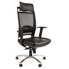 Компьютерное кресло для руководителя Сhairman Ergo 281 chrome натуральная кожа