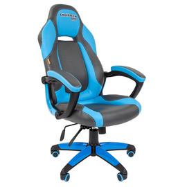 Кресло для геймеров Chairman Game 20 Синяя ЭКО кожа