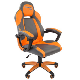 Кресло для геймеров Chairman Game 20 Оранжевая ЭКО кожа