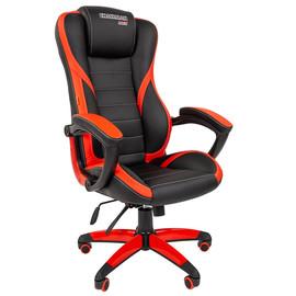 Кресло для геймеров Chairman Game 22 Красная ЭКО кожа