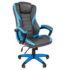 Кресло для геймеров Chairman Game 22 Синяя ЭКО кожа
