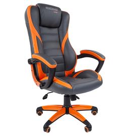 Кресло для геймеров Chairman Game 22 Оранжевая ЭКО кожа