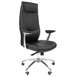 Компьютерное кресло для руководителя Chairman Vista (Виста) Черная Эко кожа