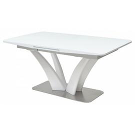 Обеденный стол Freya 160 White Glass белый глянец М-City