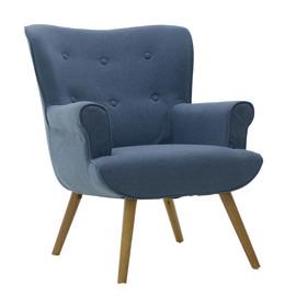 Кресло 3850126.0012 4Rooms Синяя ткань