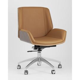 Кресло офисное TopChairs Crown коричневое Stool Group