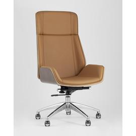 Кресло руководителя TopChairs Crown коричневое Stool Group