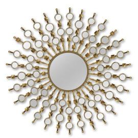 Зеркало-солнце в металлической раме Bang Brass (Бэнг) Art-zerkalo