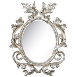 Зеркало настенное в резной раме Glory Silver (Глори) Art-zerkalo