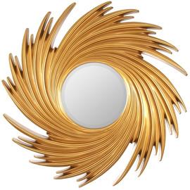 Зеркало настенное в раме модерн Tornado Gold (Торнадо) Art-zerkalo