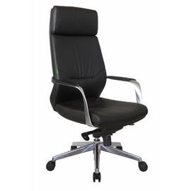Кресло для руководителя Riva Chair A1815 натуральная кожа  Черный