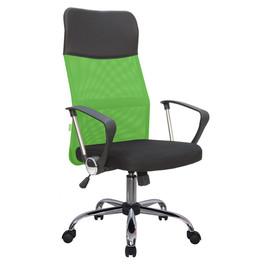 Офисное кресло Riva Chair 8074 (подголовник - экокожа) зеленая сетка