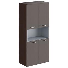 Шкаф с замками на глухих малых дверях  DHC 85.4(Z) Венге Магия Dioni 892х470х1950 (с замком)