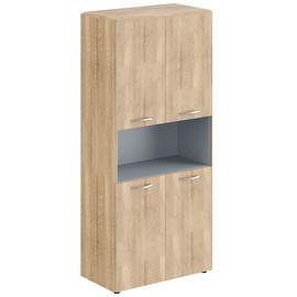 Шкаф с замками на глухих малых дверях  DHC 85.4 Дуб Каньон Dioni 892х470х1950 (без замка)