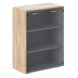 Шкаф средний со стеклянными дверьми DMC 85.2  Дуб Каньон  Dioni 892х470х1185