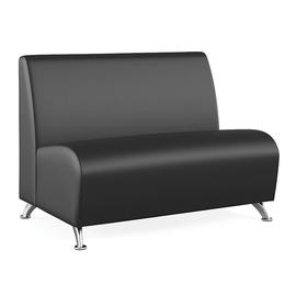 Двухместный диван Интер хром (ШхГхВ - 103х70х78 см.)