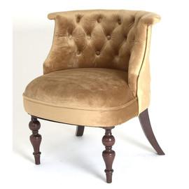 Кресло Бархат (темный тон / 5 - золото) Red Black