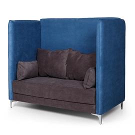 Двухместный диван высокий Графит (ШхГхВ - 158x91x137 см.)