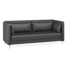 Трёхместный диван Графит с  двумя подушками подлокотниками (ШхГхВ - 218x91x84 см.)