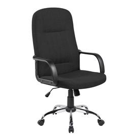 Кресло для руководителя в офис Riva Chair 9309-1J Черная ткань