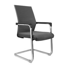 Офисное кресло для посетителей и переговорных Riva Chair D 818 серое