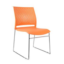 Офисное кресло для посетителей и переговорных Riva Chair D 918 Оранжевый