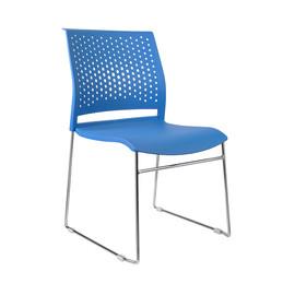 Офисное кресло для посетителей и переговорных Riva Chair D 918 Синий