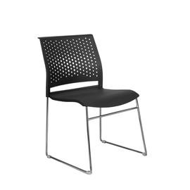 Офисное кресло для посетителей и переговорных Riva Chair D 918 Черное