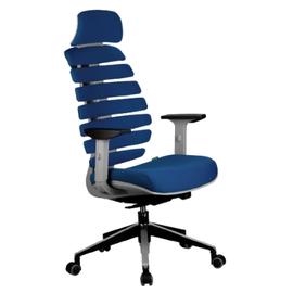 Кресло для руководителя в офис Riva Chair SHARK Синий