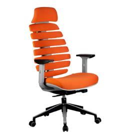 Кресло для руководителя в офис Riva Chair SHARK Оранжевый