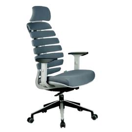 Кресло для руководителя в офис Riva Chair SHARK Серый