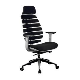 Кресло для руководителя в офис Riva Chair SHARK Черный