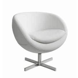 Дизайнерское кресло из экокожи A686 (реплика PLANET6) белое Beonmebel