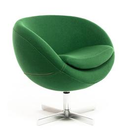 Дизайнерское кресло A686 (реплика PLANET6) зеленое Beonmebel