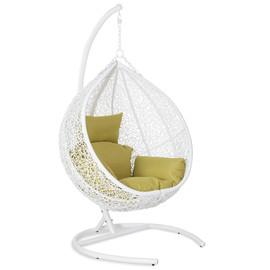 Кресло подвесное ORION White цвет белый, подушка – бежевый EcoDesign