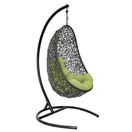 Подвесное кресло Easy цвет черный, подушка – зеленый EcoDesign