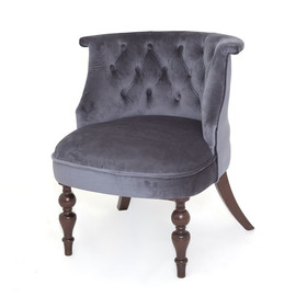 Кресло Бархат (темный тон / 36 - голубовато-серый) Red Black