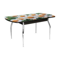 Стол обеденный Грация раздвижной со стеклом и фотопечатью