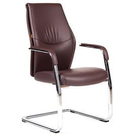 Офисное кресло для посетителей Chairman Vista V эко Коричневый