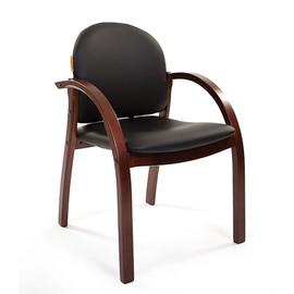 Офисное кресло для посетителей и переговорных Chairman ch 659 Теrrа черный матовый/тем.орех