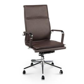Кресло для руководителя в офис NORDEN HARMAN (Харман) темно- коричневая экокожа