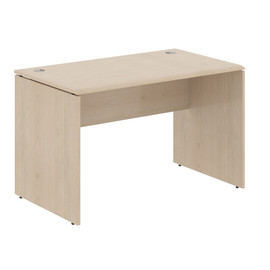 Стол прямой письменный в офис из МДФ WST 127 Бук Тиара Wave 1200х700х750
